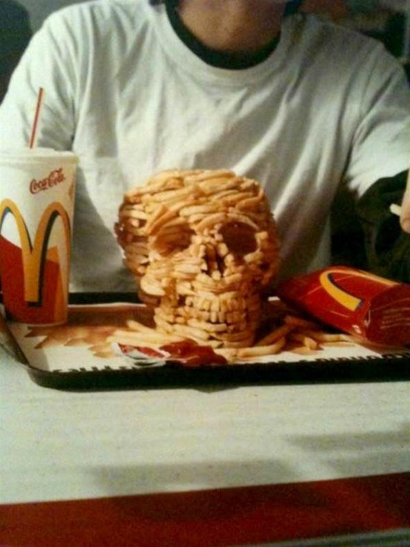Greasy, Salty McDonald's French Fry Skull