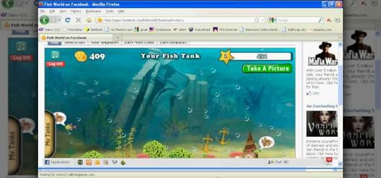 How to hack facebook 39 s fish world 10 13 09 web games for Fish world on facebook