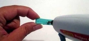 Make infant mini clip hair bows