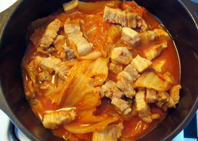Kimchi Jjigae (Pork And Kimchi Stew) Recipe — Dishmaps