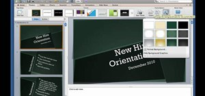 Create a custom theme in Microsoft PowerPoint for Mac 2011