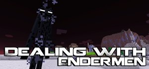 Fight against Enderman in Minecraft 1.8