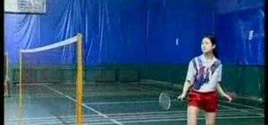 Smash the birdie in badminton