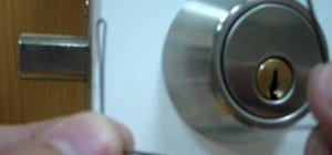 How To Pick a Deadbolt Door Lock with Bobby Pins Quickly & How to Lock a deadbolt from the outside with no keys « Cons ...