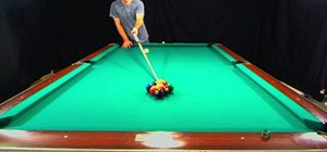 Perform a nine ball break properly in pool