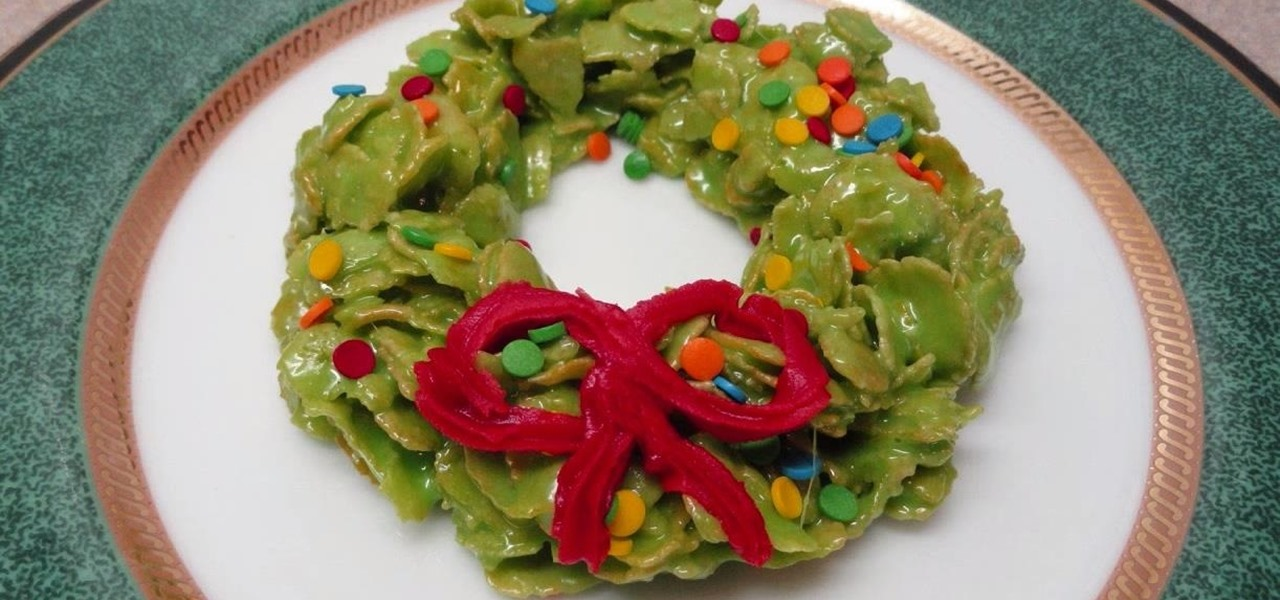How To Make No Bake Marshmallow Cereal Christmas Wreath