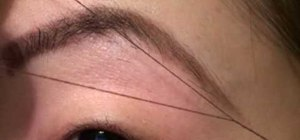 Thread eyebrows with Pursebuzz