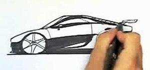 Draw a sportscar