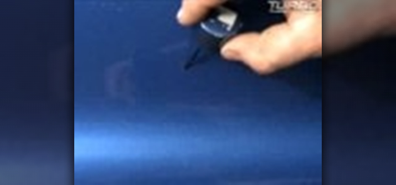 How To Touch Up The Paint On A Car And Fill In Any Missing