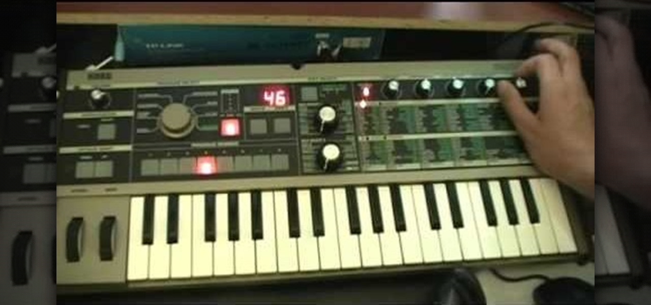 How to Program a SAW lead patch on a MicroKorg synthesizer