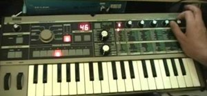 Program a SAW lead patch on a MicroKorg synthesizer