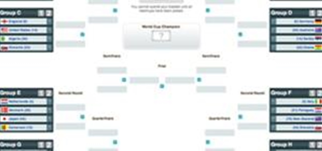 graphic relating to World Cup Bracket Printable named 2010 Earth Cup Printable Bracket Â« Globe Cup :: WonderHowTo