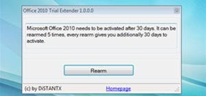 Trial Extender Gets you 180 Days of Office 2010 FREE!