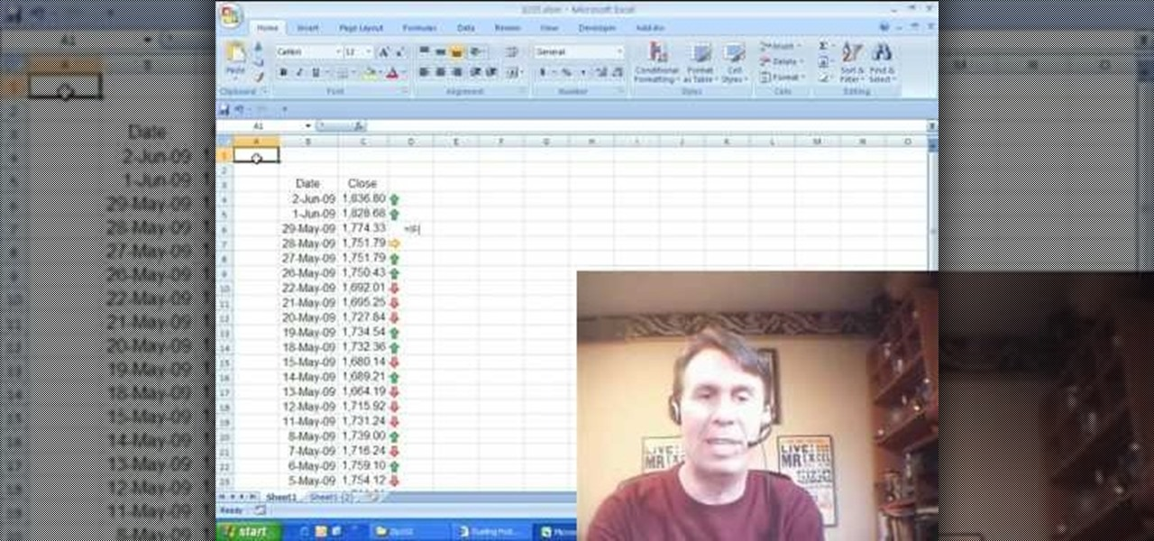 How to Display trend arrows in a Microsoft Excel spreadsheet