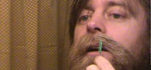 Wax a handlebar mustache step by step