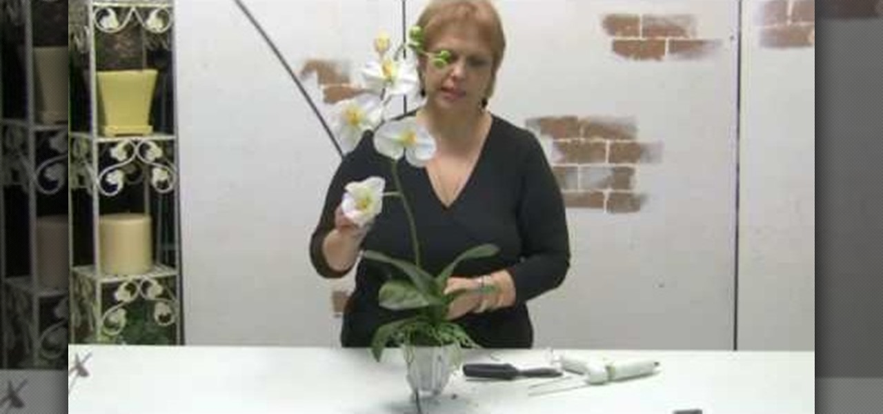 How to make a simple orchid silk flower arrangement for How to make artificial flower arrangements