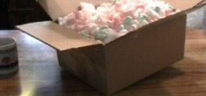 Dissolve a jar of packing peanuts