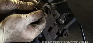Replace a car's rear disk brakes