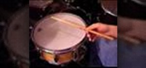 Play super fast triplet drum fills