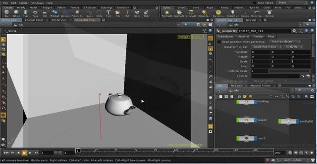 Use global illumination in the Houdini Mantra renderer - Part 1 of 4