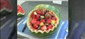 Carve a watermelon basket