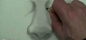Draw the male nose (step-by-step)