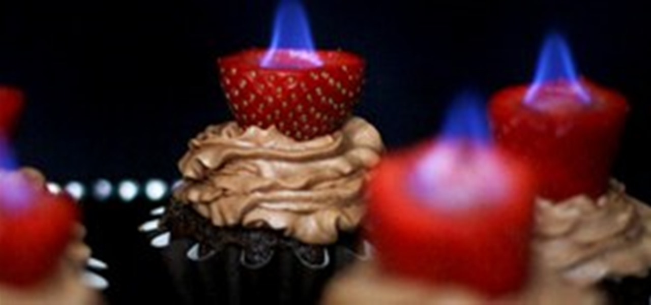 Torch-Topped Chocolate Cupcakes