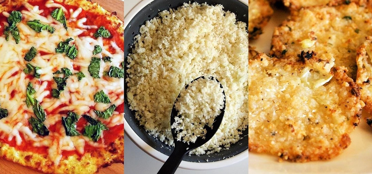 Turn Boring Ol' Cauliflower into Delicious Pizza Crust, Chips, & Fried 'Rice'