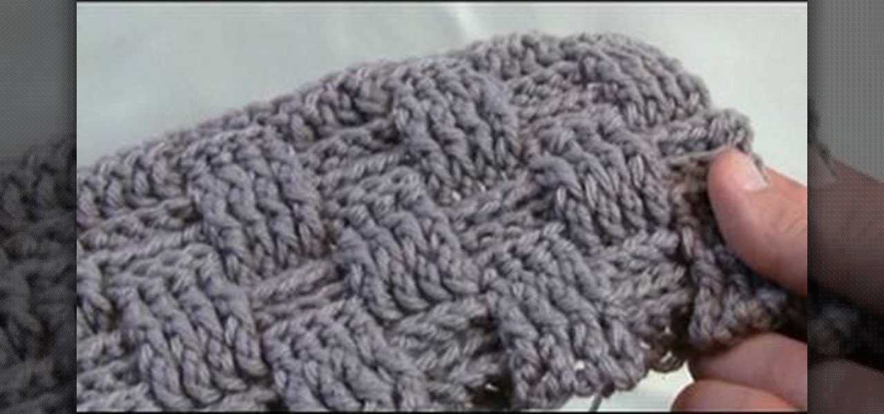 How To Do A Basket Weave Knit : How to crochet a basket weave stitch for left handers