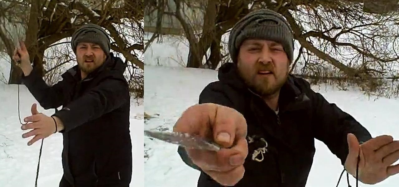 Make a Throwing Knife into a Mini-Harpoon