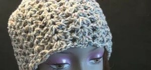 Crochet the darling shell cap for left handers