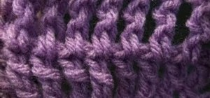 Make the triple crochet stitch