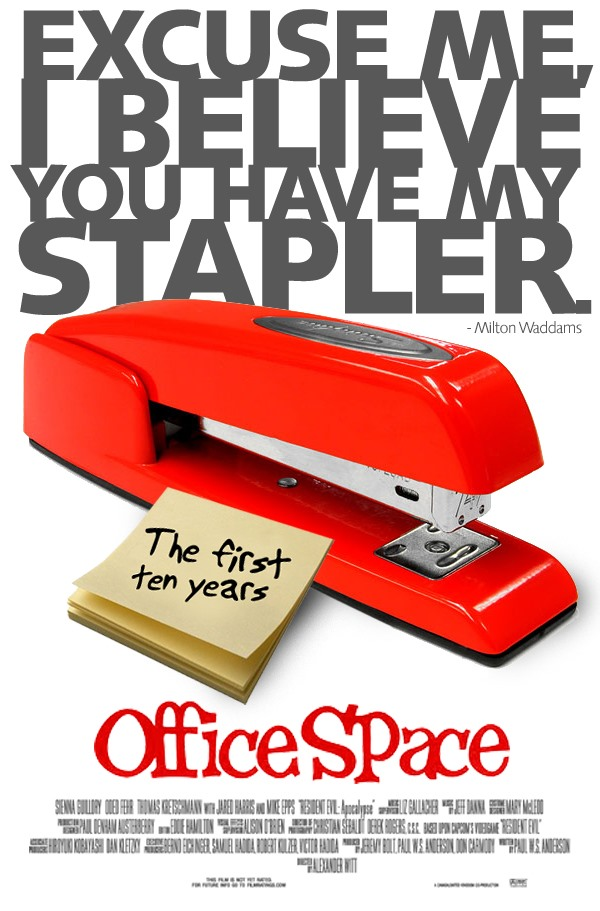 Office space movie poster design wonderhowto for Space poster design