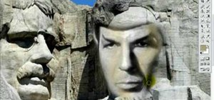 Put Spock from Star Trek into Mount Rushmore