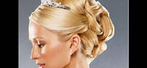 Create a formal bridal updo