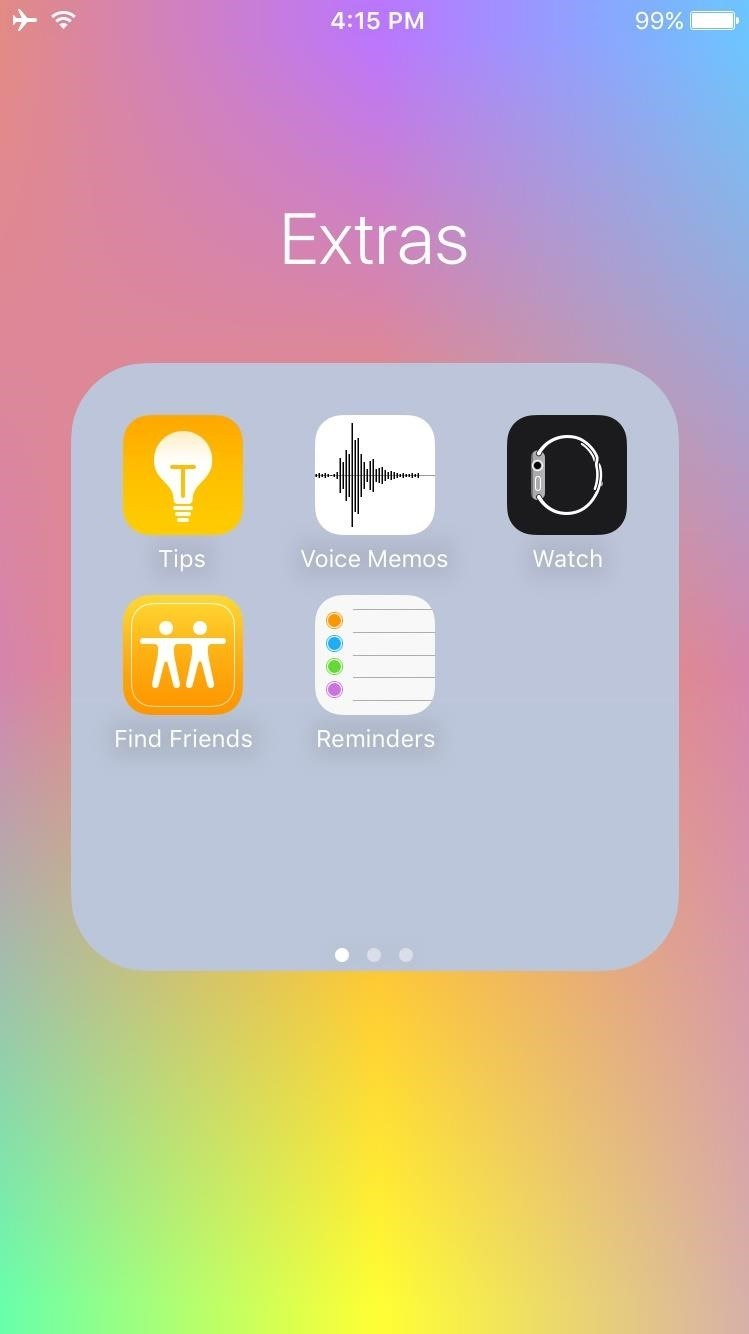 how to create a folder on iphone screen