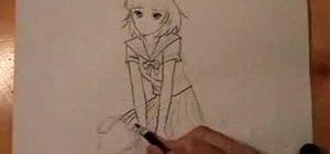 Draw an anime/manga girl