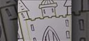 Draw a cartoon palace