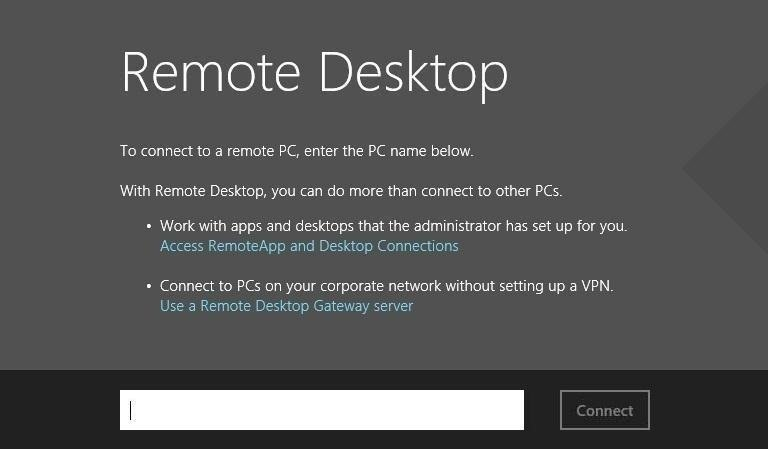how to create remote desktop connection