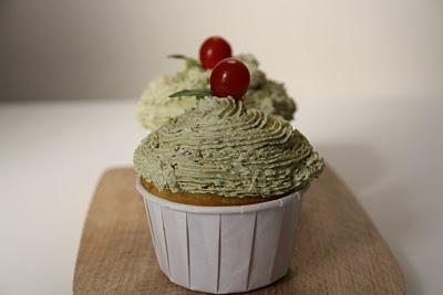 Molto Interessante... RECIPE: Italian Pesto Cupcakes