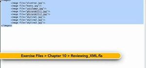 Use proper XML and E4X syntax in Adobe Flash Professional CS5