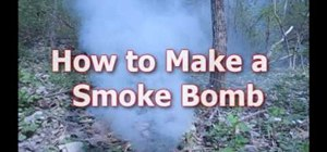 Make a smoke bomb from materials available at Wal-Mart