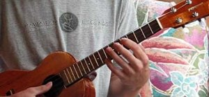 Play a F major scale in different positions on ukulele