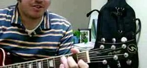 Play chords on the guitar