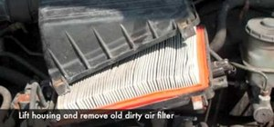 Change your own vehicle's air filter