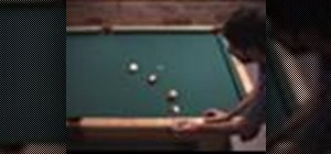Use the kick shot mirror image when shooting pool