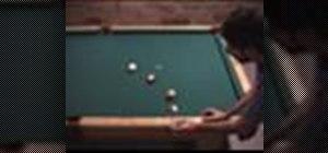 Use the kick shot mirror image when shooting pool