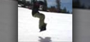 Perform a frontside 180 on a snowboard