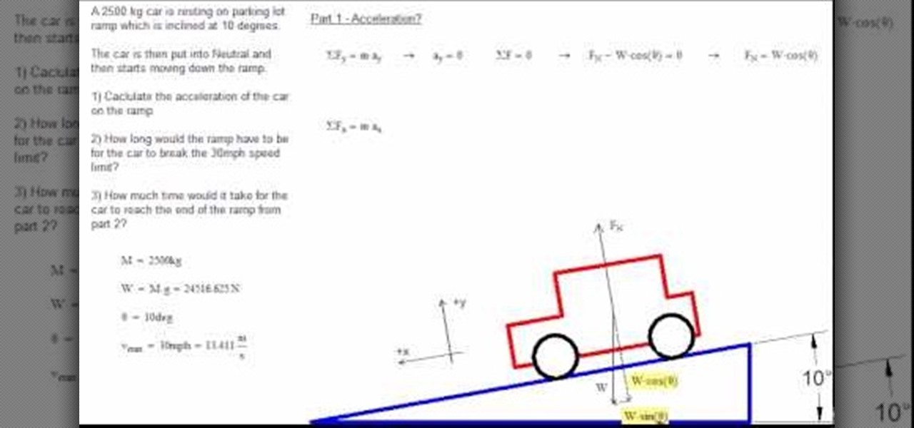 sources of error for acceleration on an incline